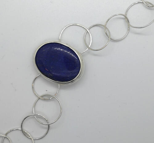"""""""Habitat"""" Lapiz Lazuli, silver. 1900:- SEK"""